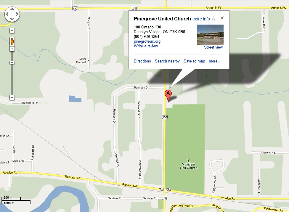 Pinegrove uc on map